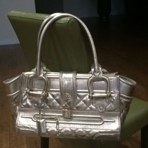 Gold Burberry bag gorgeous condition
